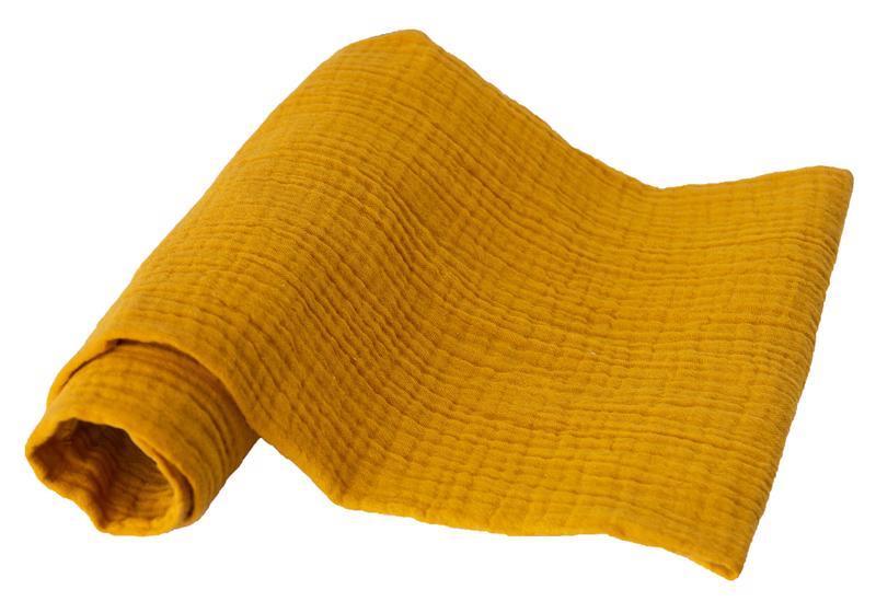 BABYMATEX Plienka bavlnená Muslin 3ks Horčicová 70x80 cm
