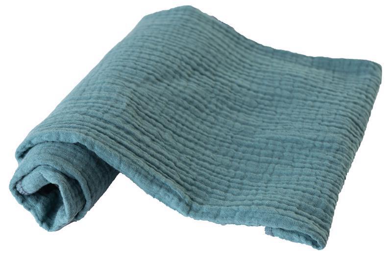BABYMATEX Plienka bavlnená Muslin 3ks Tyrkysová 70x80 cm