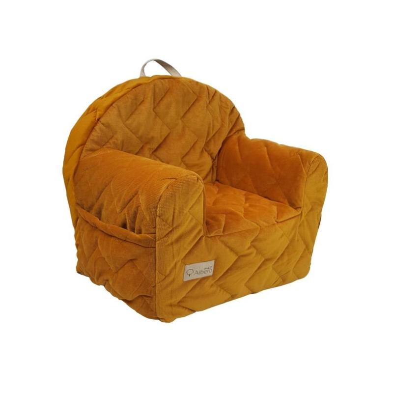 KLUPS Kresielko Velvet honey yellow 50x35x45 cm