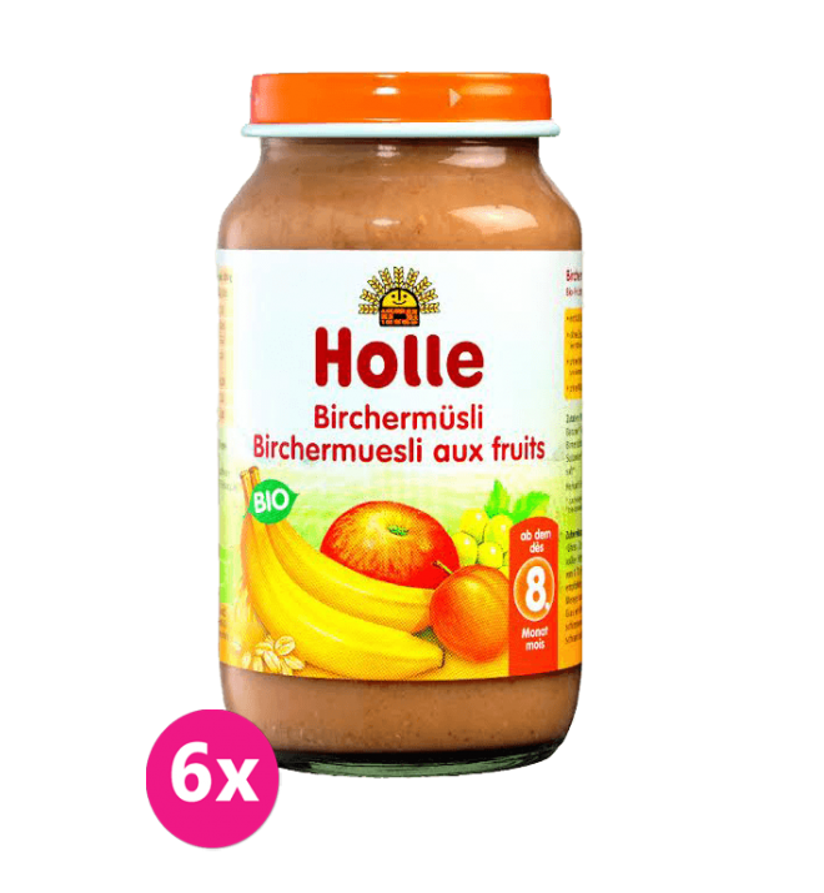 6x HOLLE Ovocné müsli, 220 g - detská ovocná výživa
