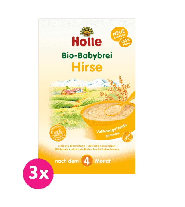 3x HOLLEKaša nemliečna Bio pšenová 250 g