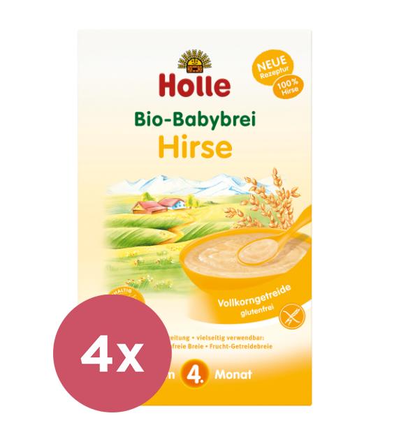 4x HOLLE Kaša nemliečna Bio pšenová 250 g