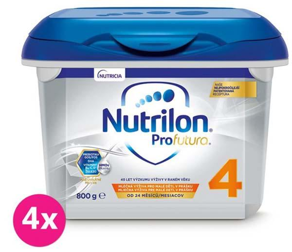 4 x NUTRILON 4 Profutura batoľacie mlieko 800 g, 24+