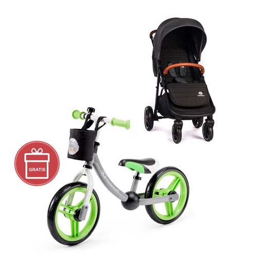 Kočárek sportovní Move Carbon Grey 2020 Petite&Mars + Detské odrážadlo 2WAY Next Green/Gray