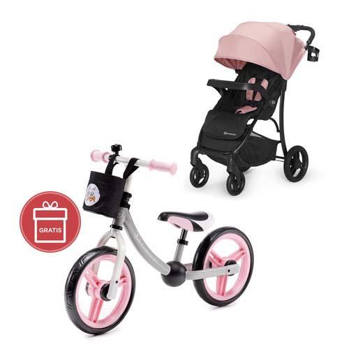 Kočík športový Cruiser pink Kinderkraft + Odrážadlo 2way Next Pink/Gray