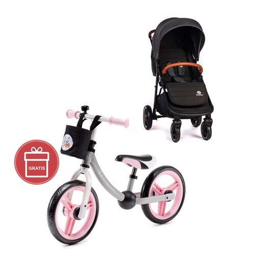 Kočárek sportovní Move Carbon Grey 2020 Petite&Mars + Detské odrážadlo 2WAY Next Light pink