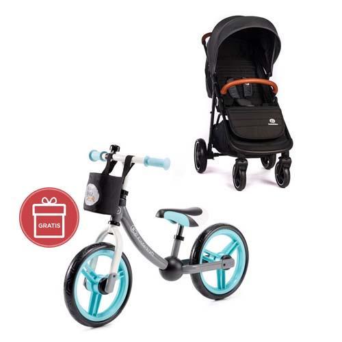 Kočárek sportovní Move Carbon Grey 2020 Petite&Mars + Detské odrážadlo 2WAY Next Turquoise