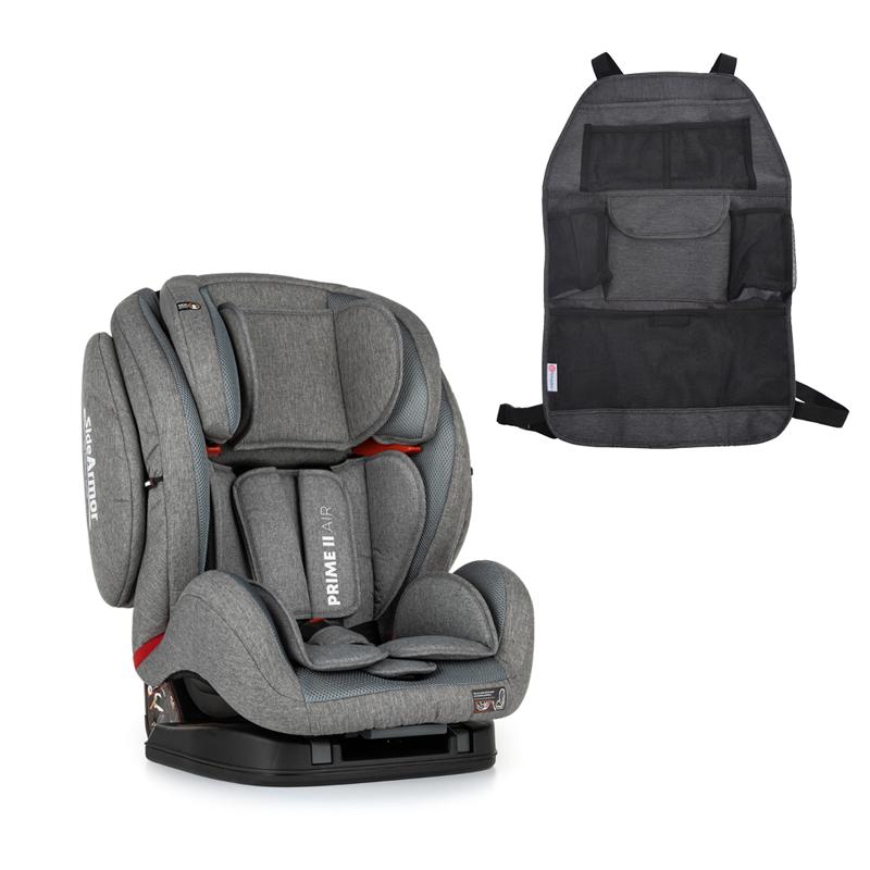 PETITE&MARS Autosedačka Prime II Stone Air (9-36 kg) + organizér na sedadlo Order