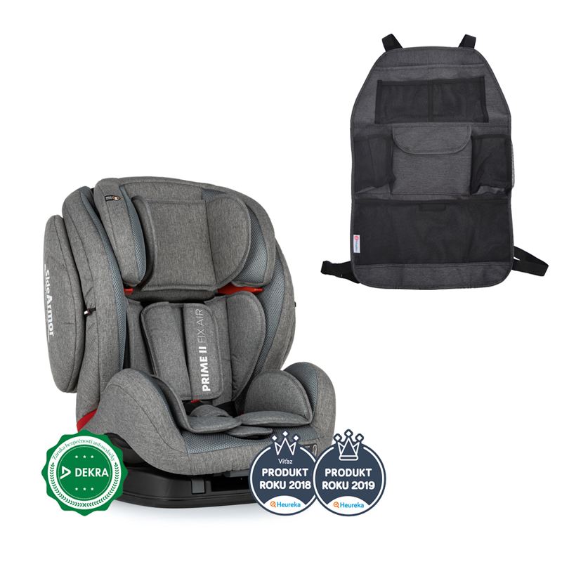 PETITE&MARS Autosedačka Prime II Isofix Stone Air (9-36 kg) + organizér na sedadlo Order