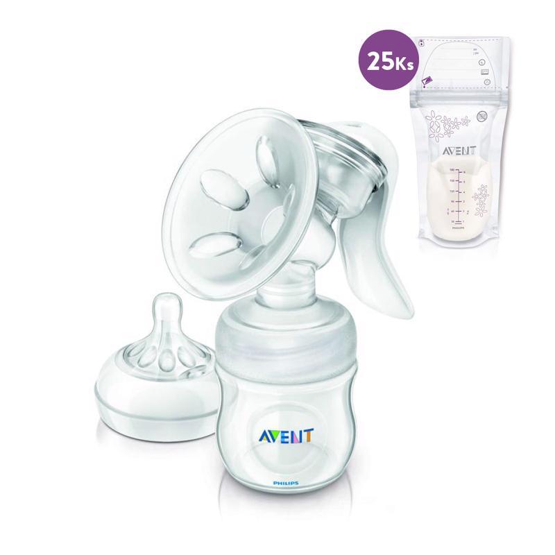 Philips AVENT Odsávačka mlieka Natural + sáčky na mlieko 180 ml 25 ks