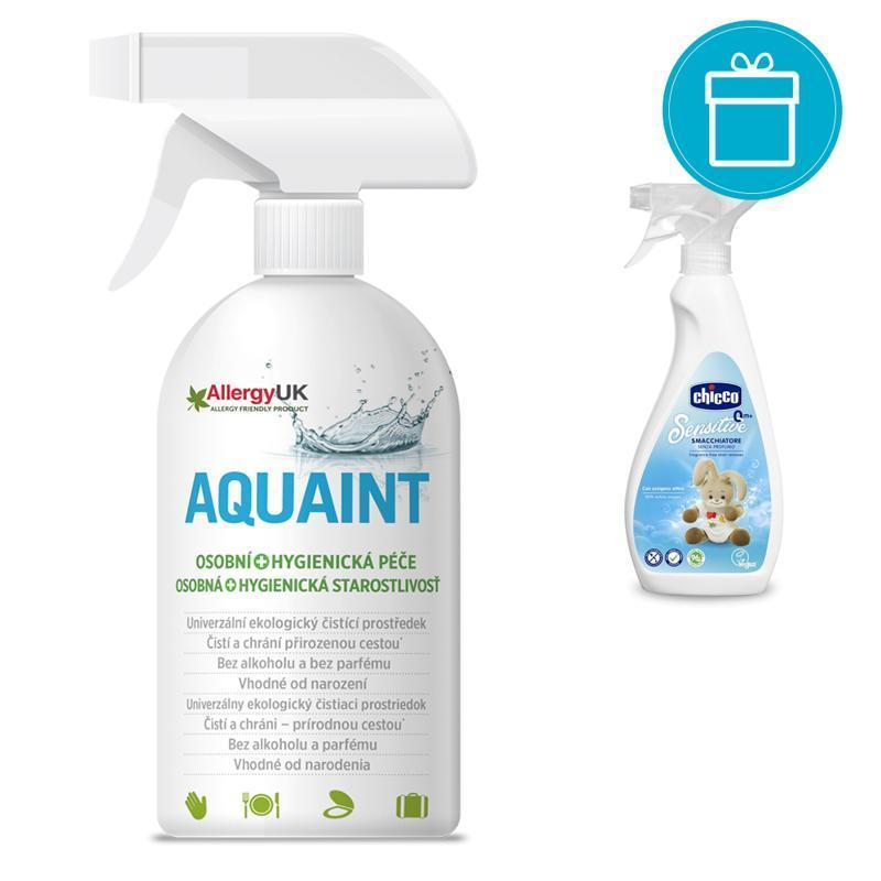 CHICCO Odstraňovač škvŕn Sensitive, 500 ml + AQUAINT 500 ml