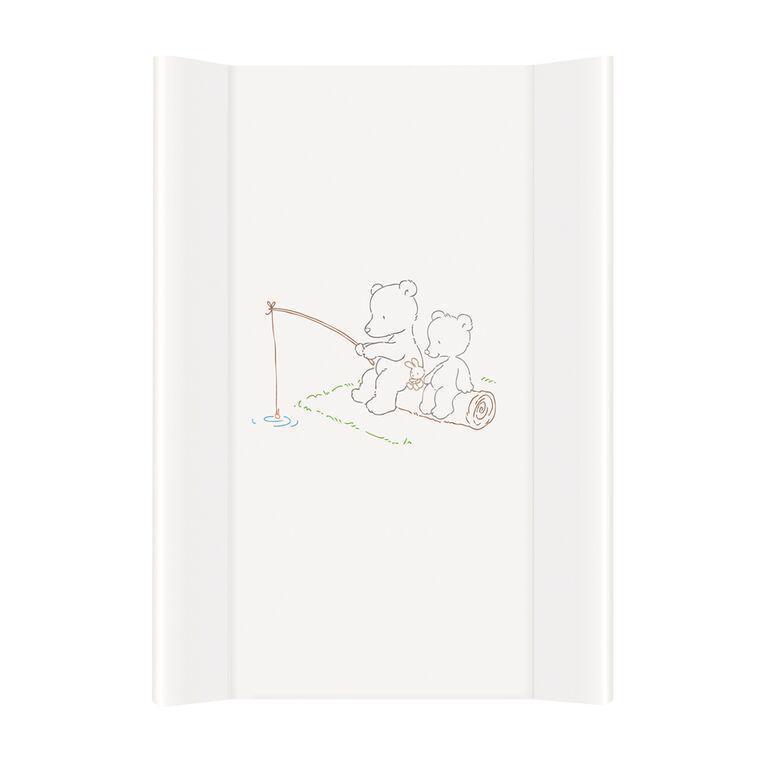 CEBA Baby Podložka prebaľovacia MDF 70 cm Papa Bear, biela