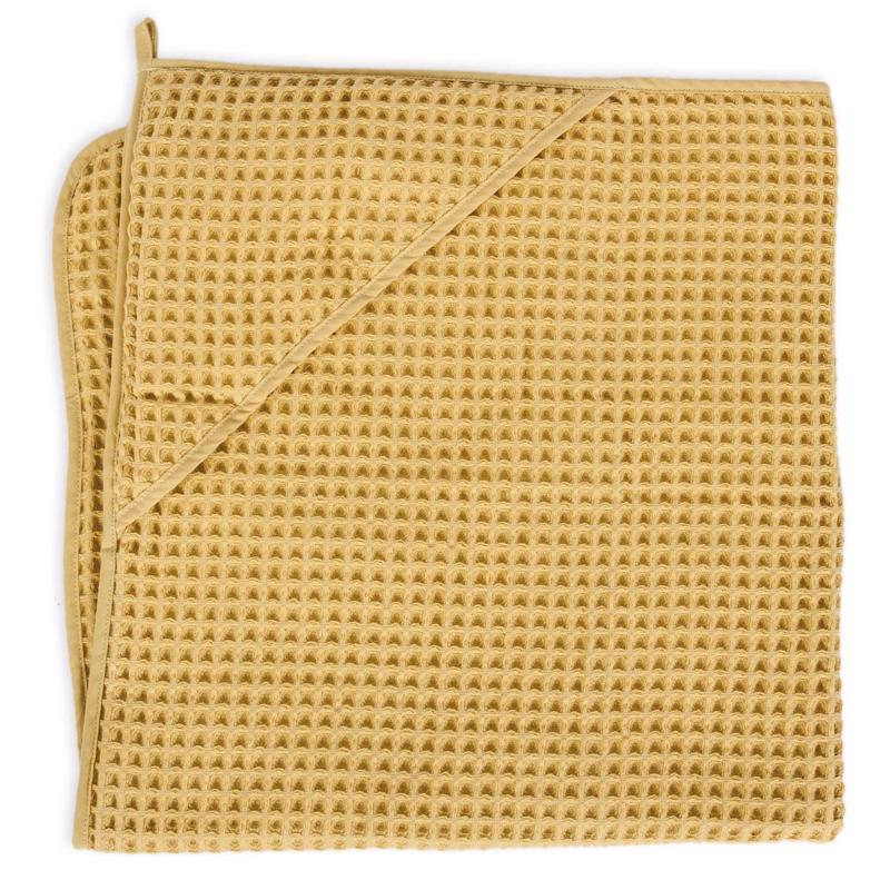 Osuška s kapucňou Froté Waffle Line 100x100 Cream Gold Ceba