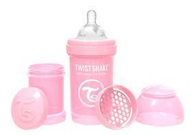 TWISTSHAKE Fľaša dojčenská Anti-Colic 180 ml (0m+) pastelovo ružová,  V001606