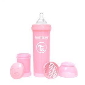 TWISTSHAKE Fľaša dojčenská Anti-Colic 330 ml pastelovo ružová,  V001606