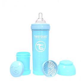 TWISTSHAKE Fľaša dojčenská Anti-Colic 330 ml pastelovo modrá,  V001606